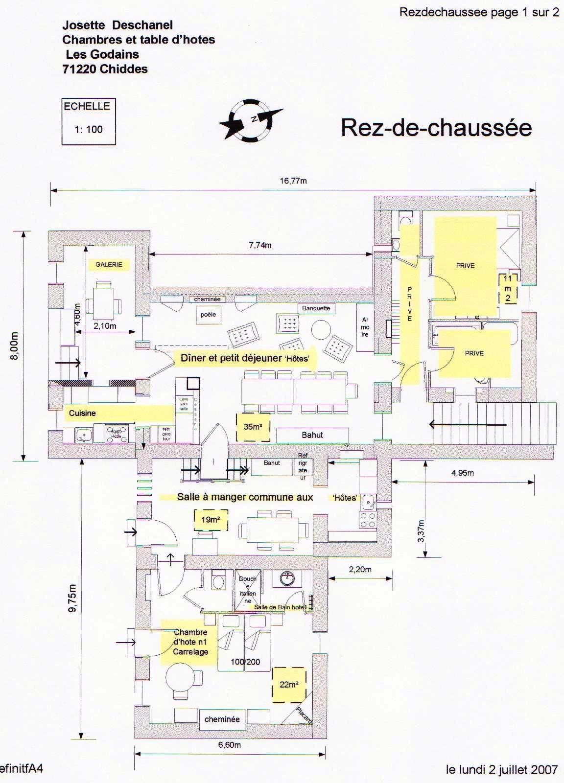Plan chambre d 39 hote rez de chauss e - Www mysmartbox fr chambre et table d hotes ...